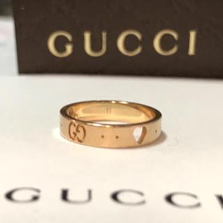 グッチ(Gucci)の【値下げ!早い者勝ち】GUCCI グッチ  K18 アイコンリング PG #11(リング(指輪))