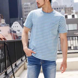 アズールバイマウジー(AZUL by moussy)のTシャツ ライトブルー 水色 (Tシャツ/カットソー(半袖/袖なし))