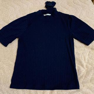 マジェスティックレゴン(MAJESTIC LEGON)のリブタートルネック❁︎Tシャツ❁︎ダークネイビー(Tシャツ(長袖/七分))