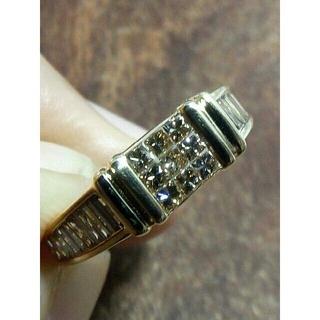 ブラウンダイヤのミステリーセッティング!K18ダイヤリング 8.5号(リング(指輪))