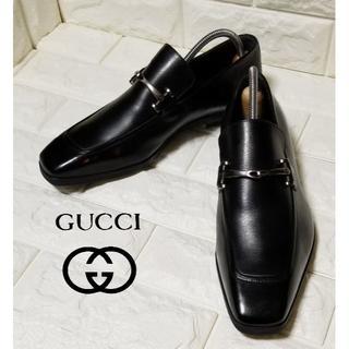 グッチ(Gucci)の【GUCCI】ビットローファーsize38E (約24.5cm) 黒 ※箱付(ドレス/ビジネス)