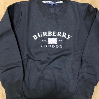 バーバリー(BURBERRY)のBURBERRY  スウェット 黒(トレーナー/スウェット)