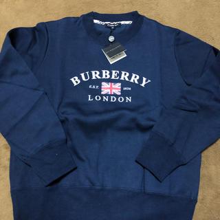 バーバリー(BURBERRY)のBURBERRY スウェット 紺(トレーナー/スウェット)