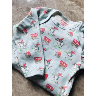 6-12m キャスキッドソン 赤ちゃん ベビー 長袖足付きロンパース カウボーイ