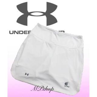 アンダーアーマー(UNDER ARMOUR)の美品♡アンダーアーマー × コオリナ インナーパンツ一体型 ゴルフ スカート 白(ウエア)