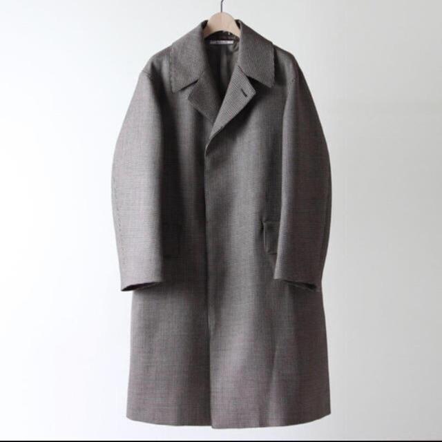 COMOLI(コモリ)のAURALEE 18aw hound's tooth chech coat メンズのジャケット/アウター(ステンカラーコート)の商品写真