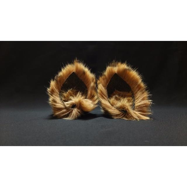 【 サーバルネコミミ 】ヘアピンねこみみ◆サーバル風ねこ耳◆髪に着けられる猫耳 ハンドメイドのアクセサリー(ヘアアクセサリー)の商品写真