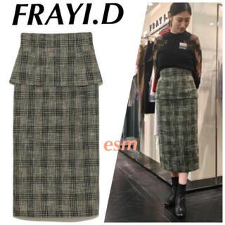 フレイアイディー(FRAY I.D)のFRAYI.D*フレイアイディー*ペプラムタイトスカート(ロングスカート)