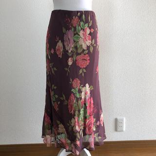 ローラアシュレイ(LAURA ASHLEY)のローラアシュレイ花柄 ロングスカート 秋色 11号(ロングスカート)