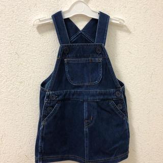 MUJI (無印良品) - 無印良品 80センチ ジャンパースカート