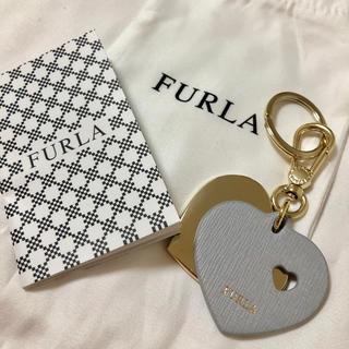 フルラ(Furla)のFURLA ハートレザーキーリング・バッグチャーム(キーホルダー)