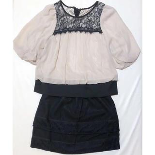 LAVEANGE セットアップ ワンピース ドレス LL(ミニドレス)