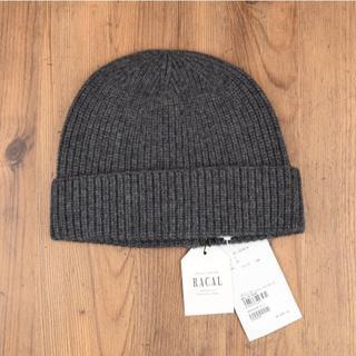 RACAL - 新品 RACAL 日本製 カシミア100% ニット帽 ニットキャップ 帽子