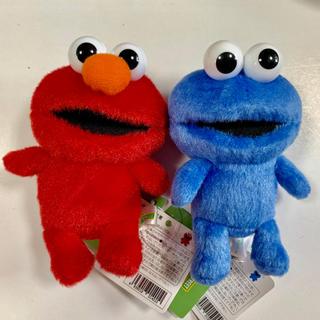 SESAME STREET - セサミストリート マスコット キーホルダー エルモ と クッキーモンスター ♪