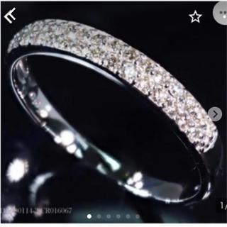 新品 K18 ホワイトゴールド ダイヤリング 10号(リング(指輪))