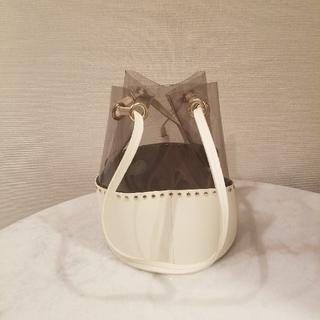 ジーナシス(JEANASIS)のwhite clear bag.(ショルダーバッグ)