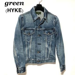 グリーン(green)のgreen グリーン(現HYKE) ダメージ加工 デニムジャケット/Gジャン(Gジャン/デニムジャケット)