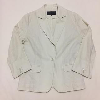 ミッシュマッシュ(MISCH MASCH)のMisch Masch オフホワイト テーラードジャケット 七分袖ジャケット(テーラードジャケット)