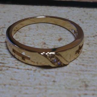 14号 14KTゴールドカラークロスリング(リング(指輪))