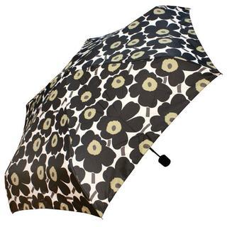 マリメッコ(marimekko)のマリメッコ 折り畳み傘 ミニウニッコ ブラック(傘)
