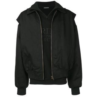 バレンシアガ(Balenciaga)のBalenciaga オーバーレイヤードジャケット 定価約32万円 確実正規品 (ダウンジャケット)
