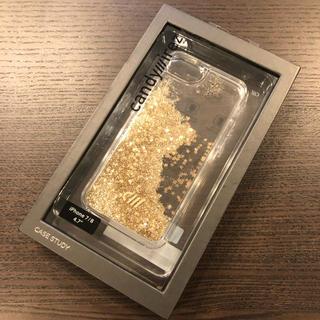 フランフラン(Francfranc)の【新品・未使用】フランフラン iPhoneケース グリッター ゴールド スター(iPhoneケース)