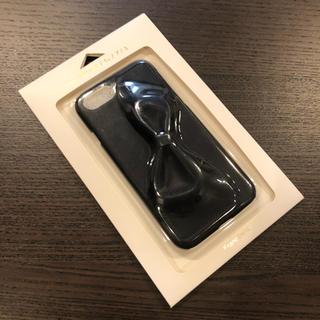 フランフラン(Francfranc)の【新品・未使用】フランフラン iPhoneケース レザー ネイビー リボン(iPhoneケース)