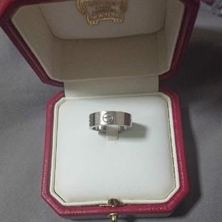 カルティエ(Cartier)の値下げ!カルティエ ラブリング ホワイトゴールド(リング(指輪))