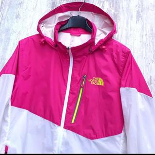 ザノースフェイス(THE NORTH FACE)のノースフェイス ピンク ホワイト テルースジャケット レディースXL(ブルゾン)