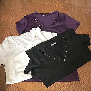 ベルメゾン(ベルメゾン)のTシャツ コットン Vネック(Tシャツ(半袖/袖なし))