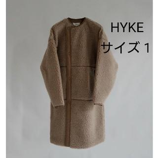 ハイク(HYKE)の今季新色ベージュ♡HYKE  FAUX SHEARLING COAT ボアコート(ロングコート)