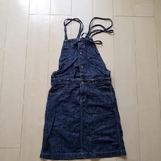 ハートマーケット(Heart Market)のMサイズ:ハートマーケット セパレートもできるデニムジャンパースカート(ひざ丈ワンピース)