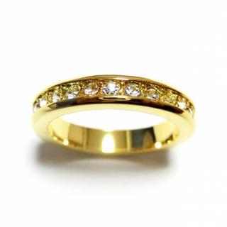 3号 フルエタニティ スワロフスキー ゴールドリング(リング(指輪))