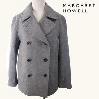 マーガレットハウエル(MARGARET HOWELL)の美品 定価7.3万 MARGARET HOWELL Pコート グレー S(ピーコート)