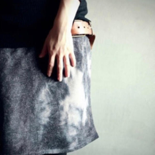 アンティカ(antiqua)のantiqua完売品 タイダイスカート(ひざ丈スカート)