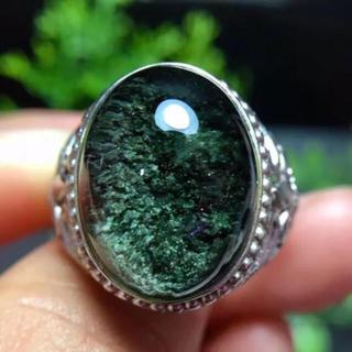 天然グリーンガーデン クオーツ リング(リング(指輪))