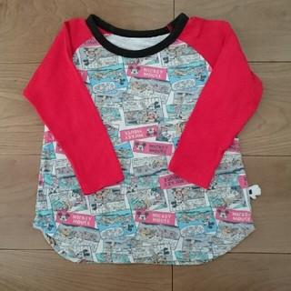 ミッキーマウス(ミッキーマウス)の最低価格300円★ミッキーマウス アメコミ柄 長袖Tシャツ 100(Tシャツ/カットソー)