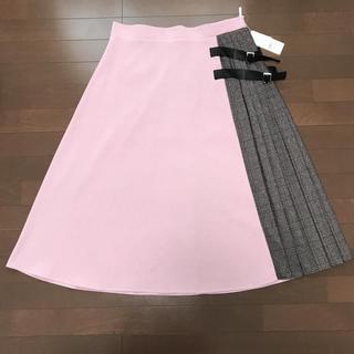 新品★大きいサイズ 4L サイドプリーツスカート(ロングスカート)