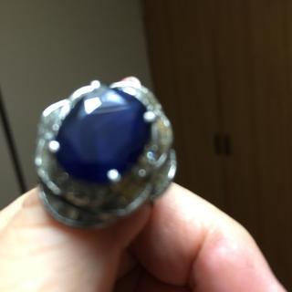 サファイア7.60ダイヤ0.69ダイヤプラチナリング(リング(指輪))