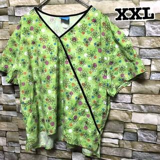 120 アメリカ古着 スクラブシャツ ドクターシャツ ホスピタルシャツ(シャツ/ブラウス(半袖/袖なし))