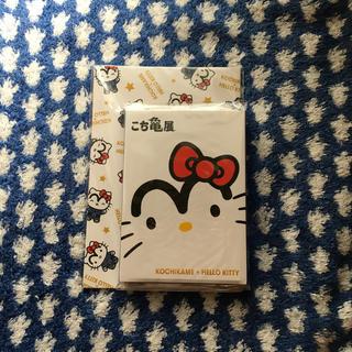 ハローキティ(ハローキティ)のハローキティ  こち亀展  ポストカード  メモ(ノート/メモ帳/ふせん)