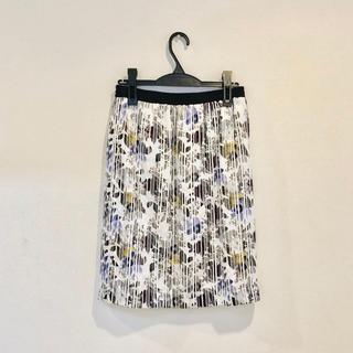 デプレ(DES PRES)のDESPRES ストライプ花柄スカート(ひざ丈スカート)