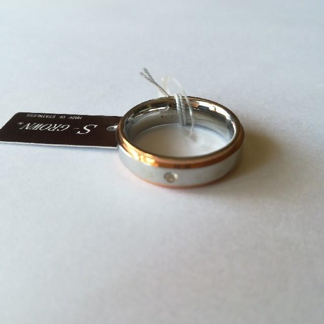 15号 ピンクゴールドラインリング X レディースのアクセサリー(リング(指輪))の商品写真