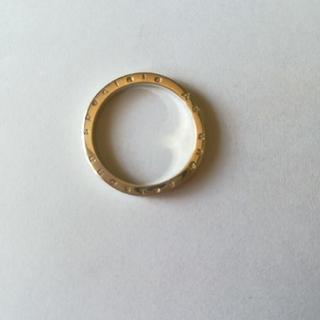 15号 シルバー925細リング イタリア語メッセージ AA(リング(指輪))