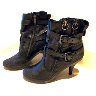 アッシュ(ASH)のASH正規品 定価約4万 ベルト付き ショートブーツ  黒 38(ブーツ)