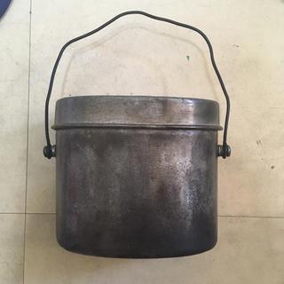 ユニフレーム(UNIFLAME)の兵式飯盒 クッカー ビンテージ シルバー(調理器具)