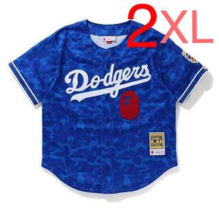 アベイシングエイプ(A BATHING APE)のBAPE LOS ANGELES DODGERS JERSEY(Tシャツ/カットソー(半袖/袖なし))