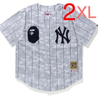 アベイシングエイプ(A BATHING APE)のBAPE NEW YORK YANKEES ABC CAMO JERSEY(Tシャツ/カットソー(半袖/袖なし))
