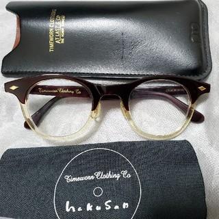 テンダーロイン(TENDERLOIN)の白山眼鏡 timeworn clothingのコラボ ボストンメガネ サングラス(サングラス/メガネ)