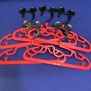 ディズニー(Disney)のミッキーマウス キッズハンガー 5個セット(押し入れ収納/ハンガー)